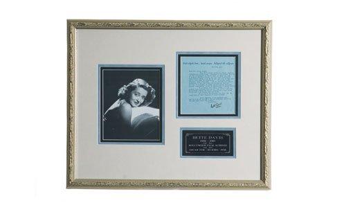 3009: Bette Davis Signed Letter Display