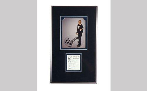 3012: Johnny Carson Autograph Display
