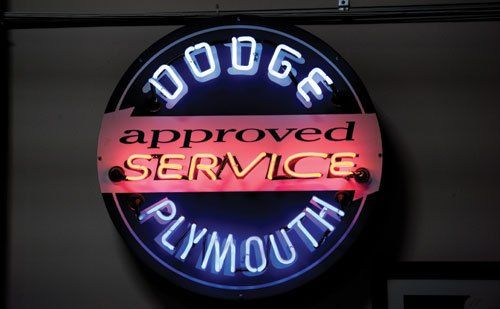 Dodge Plymouth Approved Service Neon Sign