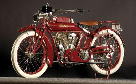105: 1915 Indian Big Twin Motorcycle