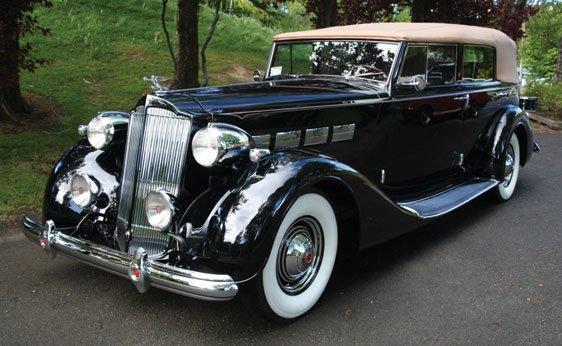 124: 1937 Packard Super Eight Convertible Sedan