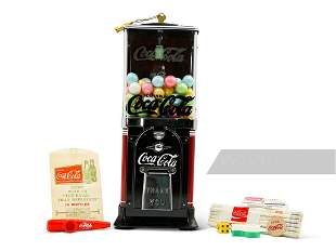 Coca-Cola-Themed Gumball Machine and Collectibles