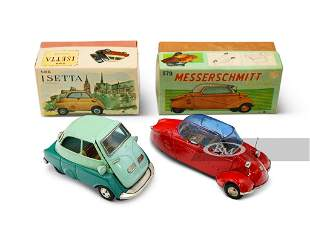 Messerschmitt and Isetta Friction Toy Cars by Bandai