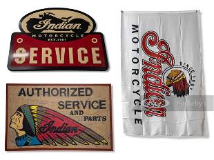 Indian Motorcycle Reproduction Signs and Flag