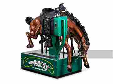 Bucky the Bucking Bronco Coin-Operated Kiddie Ride by
