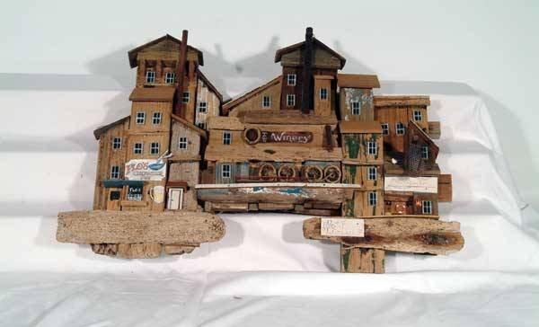 0007: R L Coy Accessories Wooden wall wharf diorama