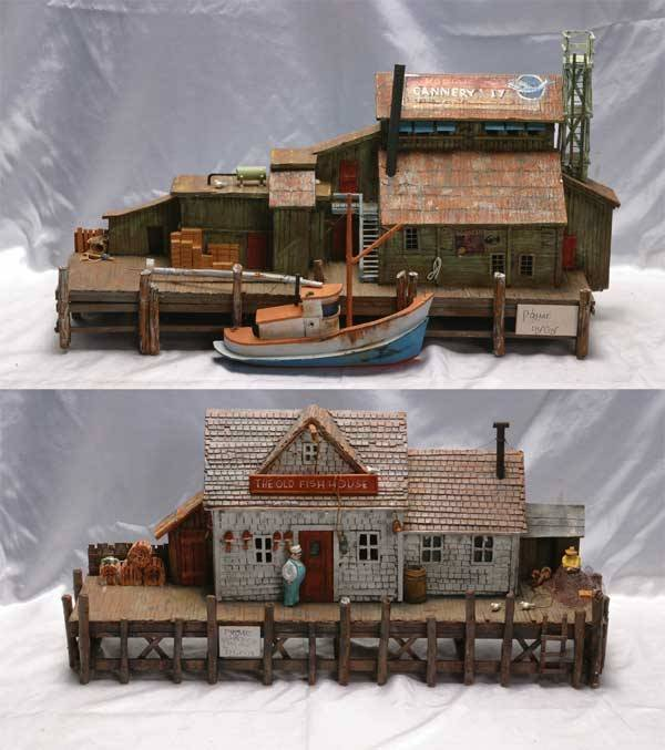 0008: R L Coy Accessories (2) wooden wall wharf dio