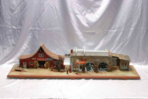 0009: R L Coy Accessories Wooden street diorama wit