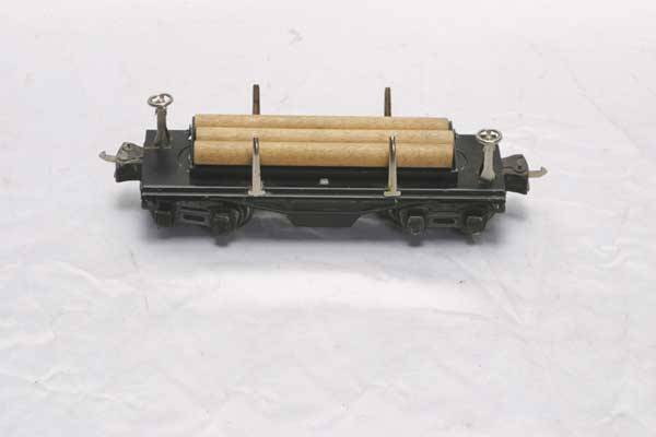 0210: Lionel Freight Car 3651 operating lumber car (Pre