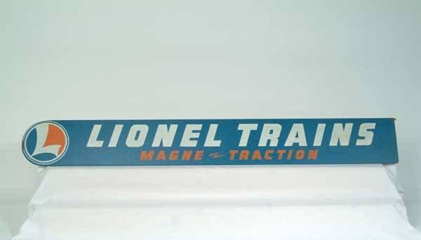 """0741: Lionel Dealer Sign """"Lionel Trains Magne-Traction"""""""
