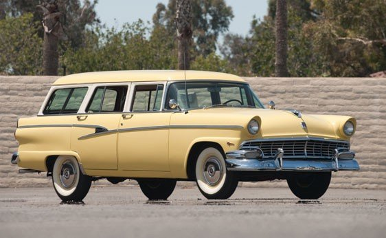 208: 1955 Ford Customline Country Station Wagon