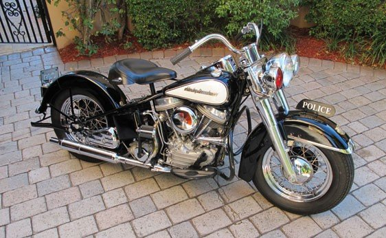 104: 1954 Harley-Davidson FLE Police Bike