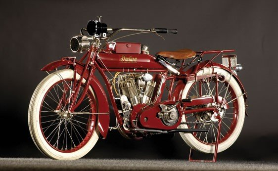 105: 1915 Indian Big Twin Motorcycle