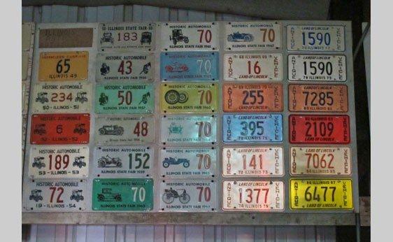 6001: Lot of Illinois Historic Automobile License Plate