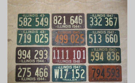 6006: Illinois Wartime License Plates 1943 - 1948