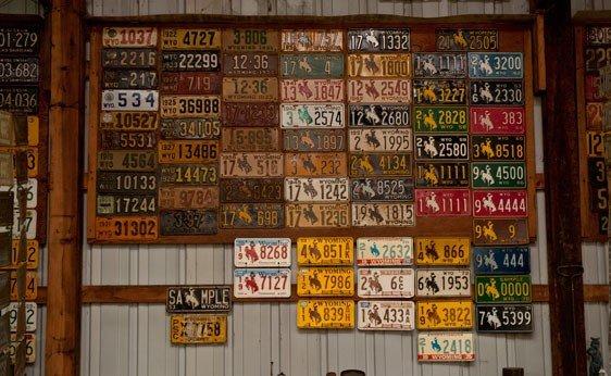 6012: Wyoming License Plates