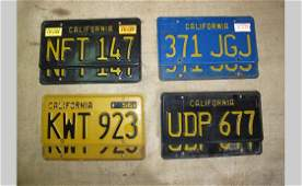 6164 California Paired License Plates