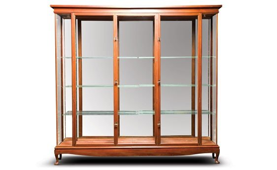 212: Large Mahogany and Glass Display Cabinet