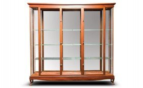 Large Mahogany And Glass Display Cabinet