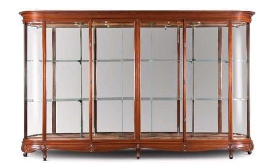215: One of a Pair of Large Mahogany Display Cabinets