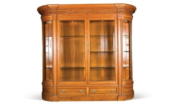 217: Fine Neoclassical Style Mahogany Display Cabinet