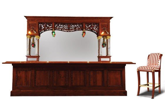 227: Victorian Soda Fountain Back Bar with New Front