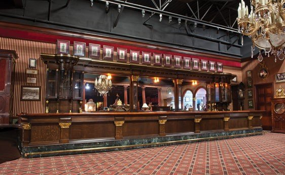 228: 35-Foot Antique Front and Back Bar
