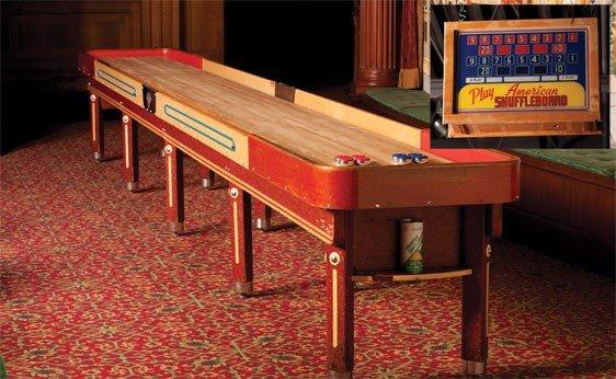 271: 22 Foot American Shuffleboard Table W/ Scoreboard