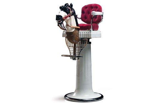 279: Koken Child's Barber Chair with Horse Head