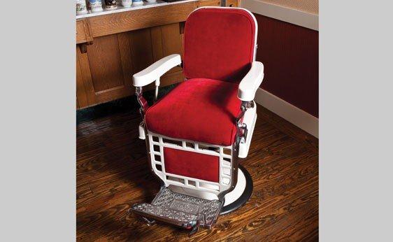 280: Art Deco Barber Chair / Theo-A-Koch