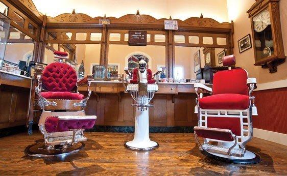 281: Koken Mfg. Co. Barbershop Bar (Four Sections)