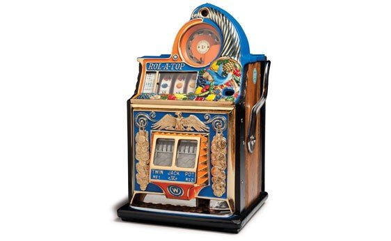 """285:  Rol-A-Top """"Bird of Paradise"""" Penny Slot Machine"""