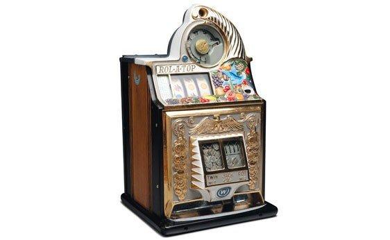 "287:  Rol-A-Top ""Bird of Paradise"" Nickel Slot Machine"