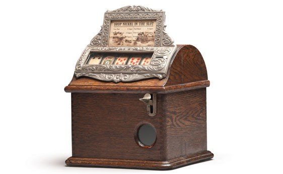"298:  Mills ""Perfection"" Nickel Cigar Slot Machine"