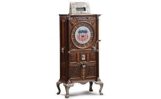 "299:  Mills ""Dewey"" Nickel Slot Machine"
