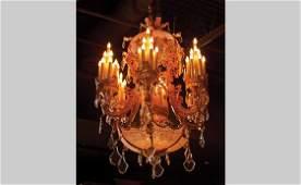 Large Louis XV Style Multi-Light Chandelier