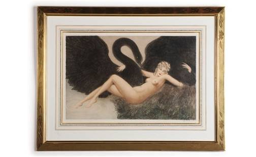 """364: """"Leda and the Swan"""" by Louis Icart"""