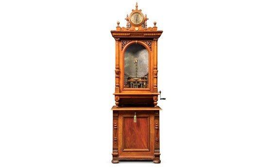 718: Polyphon Music Box with Clock