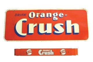 2003: ORANGE CRUSH ITEMS  Lot of two original Orange Cr