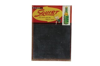 2005: SQUIRT SIGN  Original tin Squirt chalkboard sign