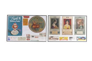2009: VINTAGE LOCAL ADVERTISEMENTS  Lot includes two fr