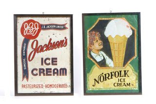 2010: ASSORTED ICE CREAM ADVERTISEMENTS  Lot includes a
