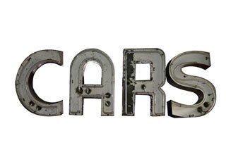 2011: NEON CARS SIGN  Original neon CARS sign made of i