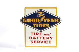 2014: GOODYEAR SIGN  Metal Goodyear Tire and Battery Se