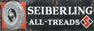 2018: SEIBERLING TIRES SIGN  Original porcelain Seiberl