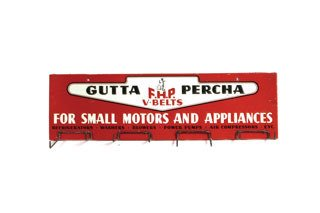 2021: GUTTA PERCHA V-BELTS RACK  Original metal Gutta P