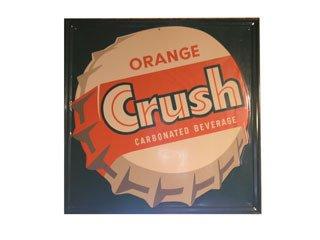 3008: ORANGE CRUSH SIGNS  Original metal Orange Crush s