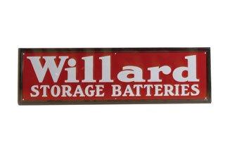 3012: WILLARD BATTERIES SIGN  Original porcelain Willar