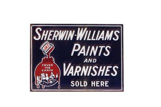 3013: SHERWIN-WILLIAMS PAINT SIGN  Original double-side