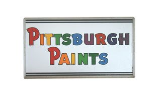 3016: PITTSBURGH PAINTS SIGN  Original double-sided por